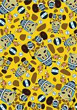 Cute Cartoon Giraffe pattern