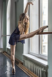 Dancer in ballet hall
