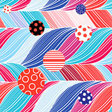 Seamless color brightly wavy pattern