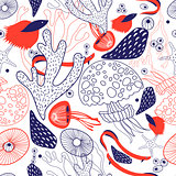 Seamless beautiful sea pattern