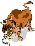 Cow with Headphones