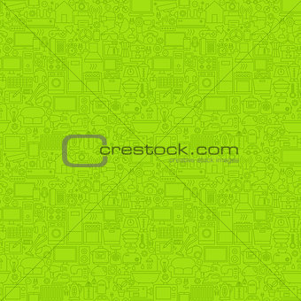 Green Line Household Seamless Pattern