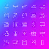 Household Appliance Line Icons