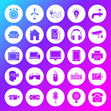 Household Appliance Solid Circle Icons