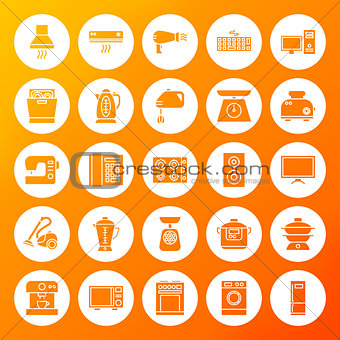 Household Circle Solid Icons