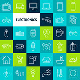 Vector Line Electronics Icons