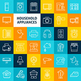 Vector Line Household Icons