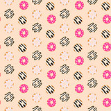 Seamless vector pattern sweet glazed donuts.