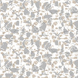 Marbled rock seamless white vector pattern.