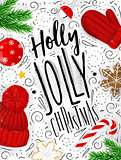 Poster holly jolly christmas