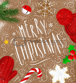 Poster merry christmas craft