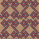 Knitting seamless ornate pattern