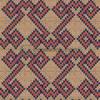 Knitting seamless ornate pattern
