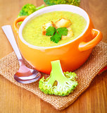 Tasty broccoli cream soup
