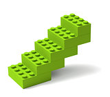 Building blocks stairs 3D