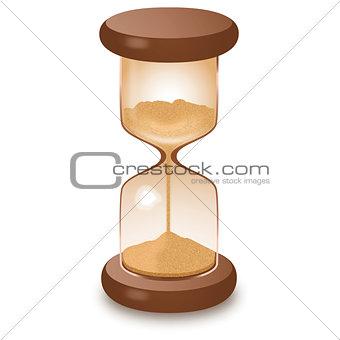 Hourglass sandglass illustration