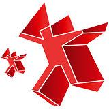 Logo symbol emblem red man human figure