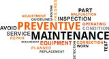 word cloud - preventive maintenance