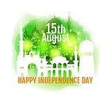 Happy India Independence day. Vector illustration of abstract Indian background with historical monument