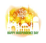 India independence day greeting illustration. Vector