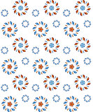 Vector flower seamless pattern.