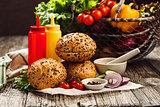 Ingredients for vegetarian burger