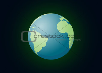 an our world planet single isolated with dark background represent universe