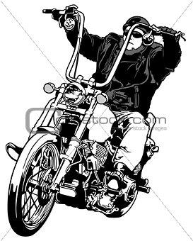 Rider On Chopper