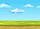 Seamless Landscape, Vector illustration