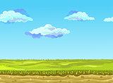 Seamless Landscape, Vector illustration