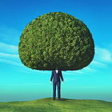 Conceptual image of a tree