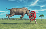 Rhino that aims to target