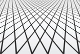 Diminishing  perspective view. Lines and diamonds pattern.