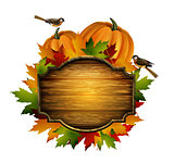 Thanksgiving vector autumn composition