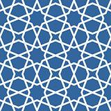 Seamless ethnic grating ornament - starry arabian pattern