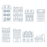 Buildings and houses in european style - townhouse, condo and ho