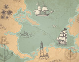 Vintage vector marine map