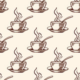 Pattern with coffee cup
