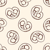 Pattern with sweet pretzel