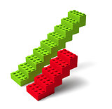 Two building block stairs 3d