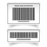 Barcode label sticker set