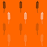 Wheat  black and white set icon .