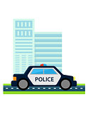 police car with office build