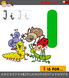 letter i with cartoon insect characters