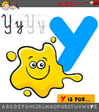 letter y with cartoon yellow color