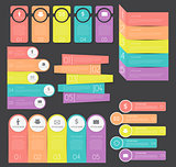 Infographic Templates Collection Set for Business Vector Illustration