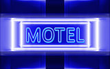 neon sign of motel