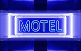 neon sign of motel
