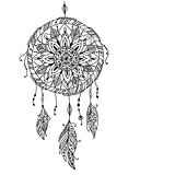 Dreamcatcher, sketch for your design