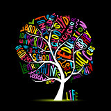 Back to school, art tree for your design